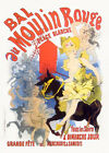 "Vintage French Poster Art CANVAS PRINT Moulin Rouge by Jules Cheret 24""X18"""