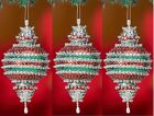 kit makes 3 pcs Reflections Ornaments  Christmas  Beads, Sequins  Craft NEW
