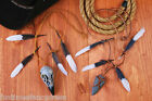 Native Indian Caveman Zulu Warrior Feather Skull Arrowhead Necklace Fancy Dress