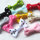 100/500PCS Dots Grosgrain Ribbon Bows Flowers Appliques Craft Dec Lots A461