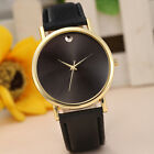 Fashion Womens Simple Retro Design Leather Analog Alloy Quartz Wrist Watch Gift image