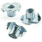 A2 STAINLESS TEE NUTS, DRIVE IN, FOUR 4 PRONGED, CAPTIVE T NUT M4 M5 M6 M8 M10