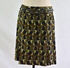 ETCETERA CAMO WOOL SILK SKIRT w/STUDDED BELT FINALE size  2 12 NEW $195