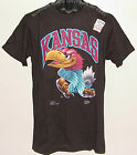 Vintage 1991 Univ Kansas JAYHAWKS SALEM T-Shirt INTENSITY NWT New Old Stock NOS