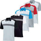 Adidas ClimaCool Engineered 3 Stripes Polo Golf Shirt TM1266F5 Mens New