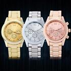 Fashion Geneva Ladies Women Girl Unisex Stainless Steel Quartz Wrist Watch CC