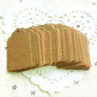 100pcs Brown Kraft Paper Hang Tags Wedding Favor Label Gift Cards AB21