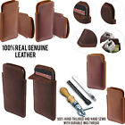 For LG Tribute LS660 Slim Sleeve Genuine Real Leather POUCH Case Cover + Pen