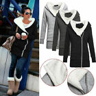 Newest Womens Fleece Long Sleeve Coats Hooded Jacket Sweater Parka Warm Outwear