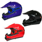 LEO Childrens Kids MOTOCROSS ATV Crash HELMET & GOGGLES Black Red Blue Off Road