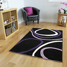 New Small Large Purple Modern Rugs Stylish Warm Easy Clean Living Room Rugs