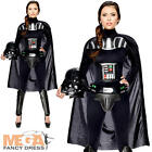 Darth Vader Ladies Fancy Dress Star Wars Movie Villain Womens Adults Costume