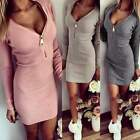 Casual Oversized Women Bodycon Slim Party Cocktail Dress Long Sweater Pullover