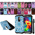 For Samsung Galaxy S5 Active G870A Shockproof HYBRID HARD SOFT Case Cover + Pen