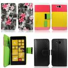 PU Leather Wallet Card Slots Holder Flip Folio Stand Case Cover For Nokia Lumia