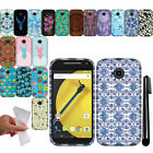 For Motorola Moto E 2nd Gen 2015 TPU Gel SILICONE Rubber Soft Case Cover + Pen