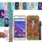 For Motorola Moto G 2015 3rd Gen XT1541 TPU Gel SILICONE Rubber Case Cover + Pen