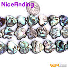 14mm 16mm Natural Abalone Shell Loose Beads For Jewelry Making Heart Flower 15""