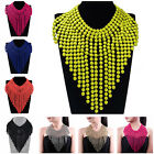 Charm Spray Paint Colorful Tassel Beads Bib Choker Cluster Pendant Necklace