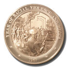 Franklin Mint History of US Year of Racial Violence & Riots 1967 45mm Proof Bron