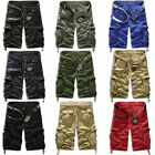 Cool Men's  Relaxed Fit Army Cargo Baggy Shorts Summer  Pants Shorts No Belt