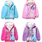 Winter Fleece Kids Girl Frozen Ana Elsa Coral Velvet Dual Coat Jacket Hoodies