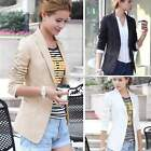 Stylish Womens Casual Business Slim fit One Button Suit Blazer Coat Jackets Tops