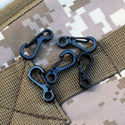 5 pcs Mini Spring Paracord Cord Buckle Clasp Buckle Snap Hook Carabiner Keyring