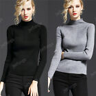 New Women Winter Turtleneck Slim Long Sleeve Knitted Sweater Jumper Pullover Top