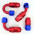 AN4 -4 4AN Braided Hose Fitting Red / Blue (Choose Angle) Demon Motorsport