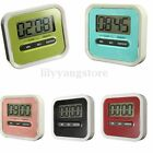 NEW LCD Digital Cooking Kitchen Timer Count-Down Up Clock Loud Alarm Black White