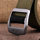 Mens Fashion Sports Nylon Belts Stainless Steel Buckle Outdoors Waistband C62