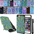 "For Apple iPhone 6 6s 4.7"" ShockProof HYBRID Silicone HARD SOFT Case Cover + Pen"