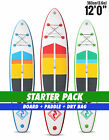 "Two Bare Feet Model IV 12'0"" STARTER PACK Inflatable SUP Stand Up Paddle"