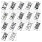 Black And White Doodle Bird Music Pattern Hard Case for Samsung Galaxy S2 i9100