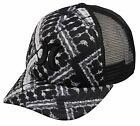 Hurley One and Only Women's Trucker Hat - Black / White Texture - New