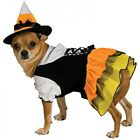 Candy Corn Witch Dog Costume Cute Pet Halloween Fancy Dress