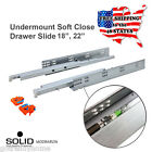 """18""""-22"""" Full Extension Soft Close Undermount Cabinet Concealed Drawer Slides"""