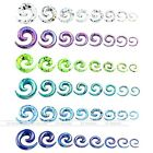 "Pair 12ga-1/2"" Acrylic Spiral Snail Ear Plug Tunnel Stretcher Expander Cool"