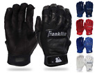 Franklin Shok-Sorb Neo Youth Baseball Batting Gloves  Black/Red/Yellow   20921