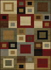 Multi-Color Blocks Squares Contemporary Area Rug Abstract Cubes Boxes Carpet