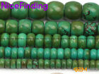 Wholesale Lots Rondelle Natural Green Old Turquoise Beads For Jewelry Making 15""
