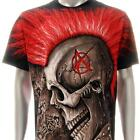 r184 Rock Eagle T-shirt SPECIAL Tattoo Skull Tee Red Hair Punk Ghost Zombie Men