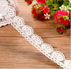 2 Yards Lace Trim Ribbon For Dress Skirt Veil Embroidered DIY Sewing Craft FL56