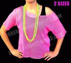 80s Mesh Net Top and Set of 4 Neon Beads Deal S-XXL (4)