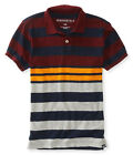 Aeropostale Mens Color Block Striped Rugby Polo Shirt