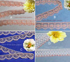 """Peach Lace Trim 12-32 Yards Vintage 1/2""""-3/4"""" Scalloped 019AV Your Choice"""
