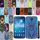 For Samsung Galaxy Mega 6.3 I527 I9200 I9205 PATTERN HARD Back Case Cover + Pen