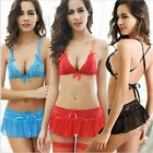 Sexy Mini Bikini Sets with Skirt Red Blue Black Size S M L