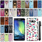 For Samsung Galaxy A7 A700 PATTERN HARD Protector Back Case Phone Cover + Pen